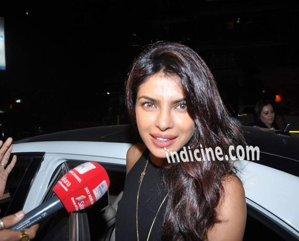 Priyanka Chopra talks to the media
