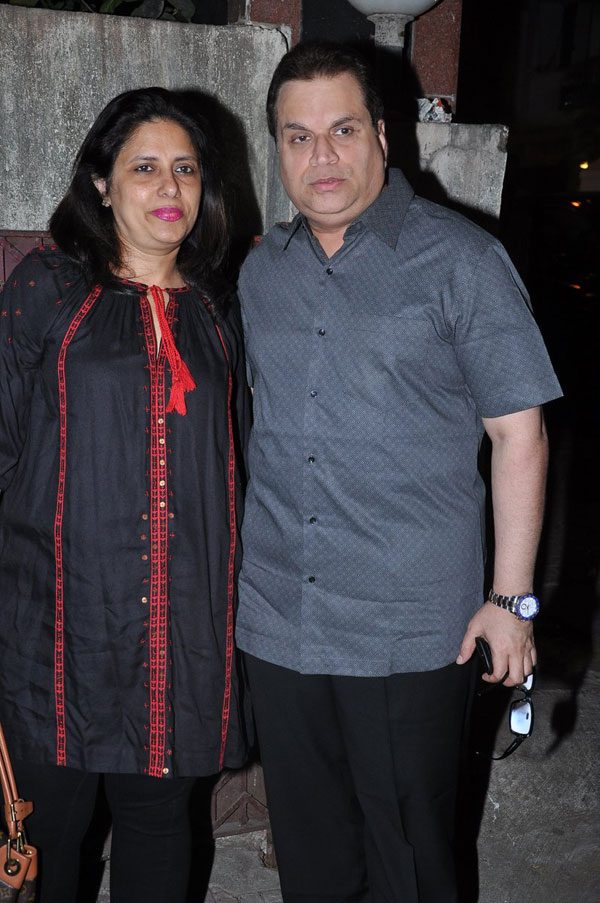 Ramesh Taurani with wife Sneha Taurani