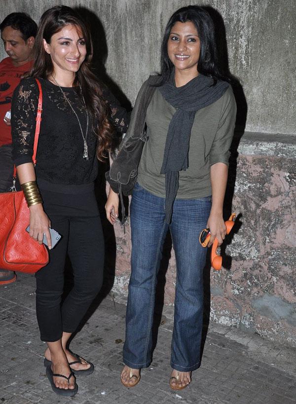 Soha Ali Khan and Konkona Sen Sharma
