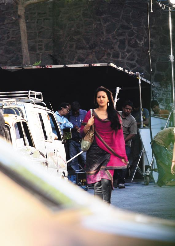 Sonakshi Sinha on the sets of Once Upon A Time In Mumbaai Again