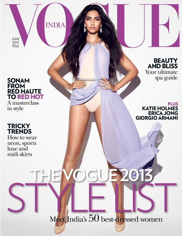 HOT: Sonam Kapoor Vogue Magazine Covers