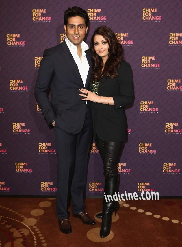 Abhishek Bachchan with wife Aishwarya Rai