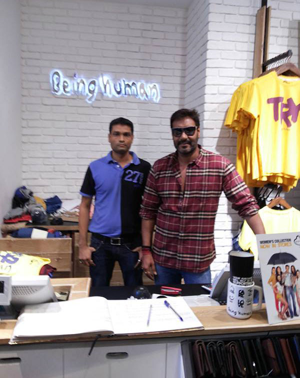 Ajay Devgan at Salman Khan's Being Human Store