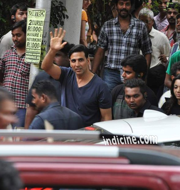 Akshay Kumar on the sets of Pistol