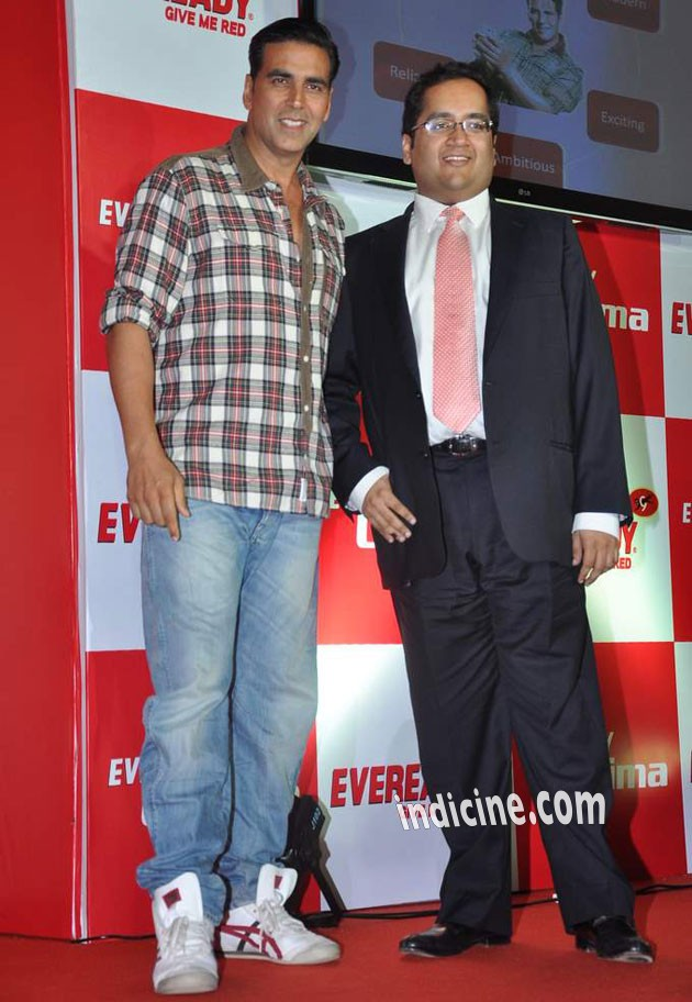 Akshay Kumar at the launch of Eveready Ultima Mobile Power
