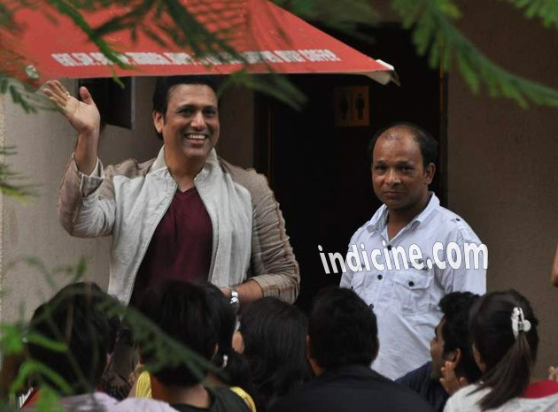 Govinda on the sets of Pistol
