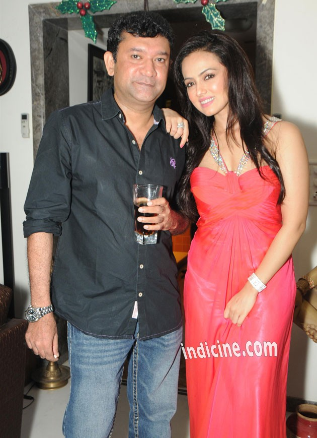 Ken Ghosh with Sana Khan