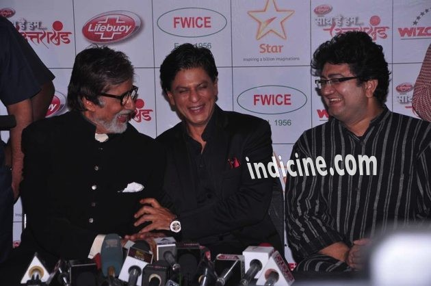SRK and Big B share a laugh