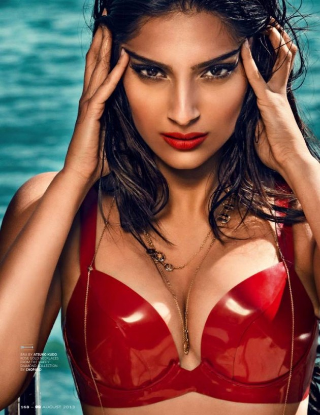 Sonam Kapoor Red Hot for GQ India