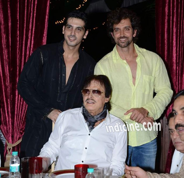 Hrithik Roshan With Zayed And Sanjay Khan