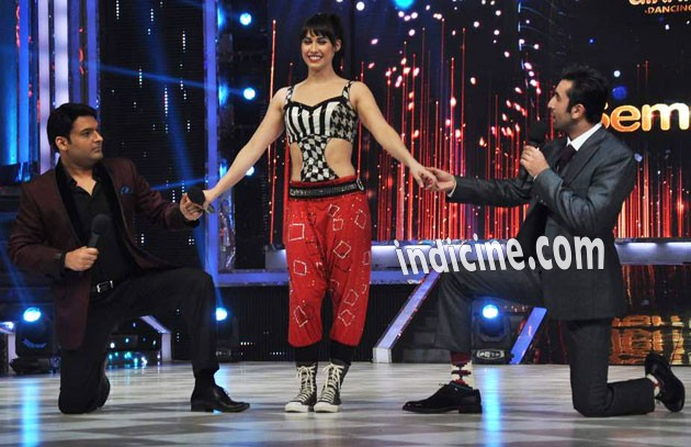 Kapil Sharma, Lauren Gottlieb and Ranbir Kapoor