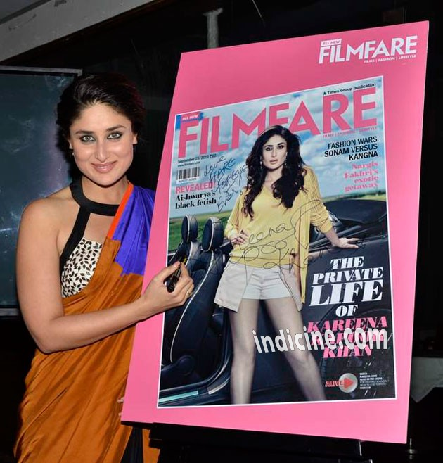 Kareena Kapoor Khan launches Filmfare latest issue