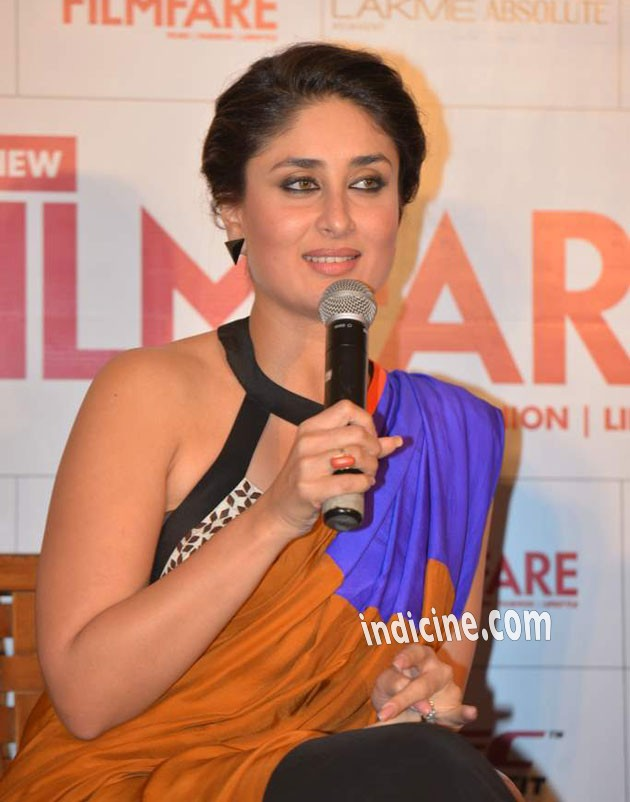 Kareena Kapoor talks to the media