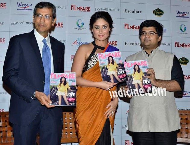 Kareena unveils all new Filmfare Magazine Cover