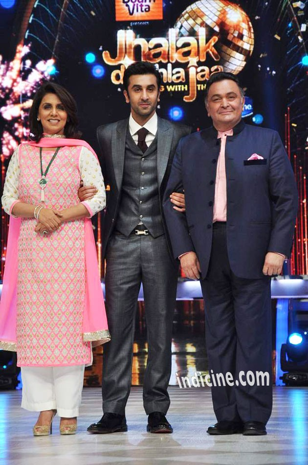 Ranbir Kapoor with parents Neetu Singh and Rishi Kapoor