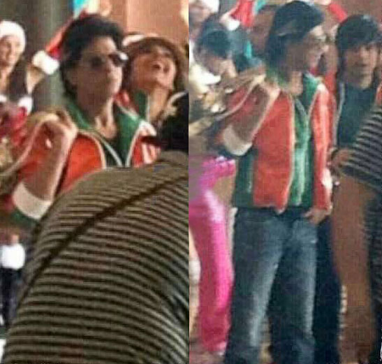 Shahrukh Khan on the sets of Happy New Year