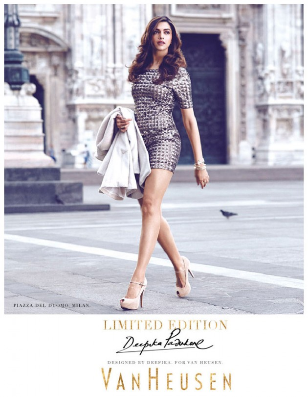 Deepika Padukone Photoshoot for Van Heusen in Milan