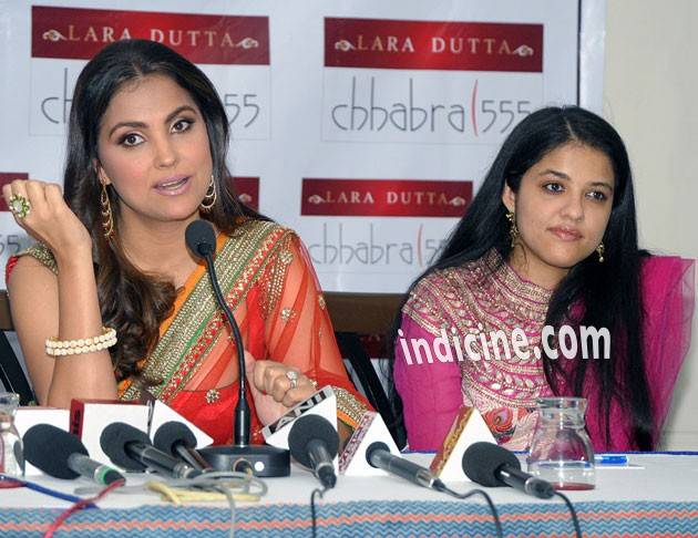 Lara Dutta talks to the media