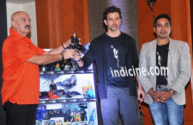 Rakesh Roshan, Hrithik Roshan at official Krrish 3 merchandise launch