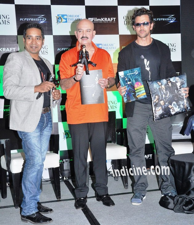 Rakesh Roshan, Hrithik Roshan launch official Krrish 3 merchandise