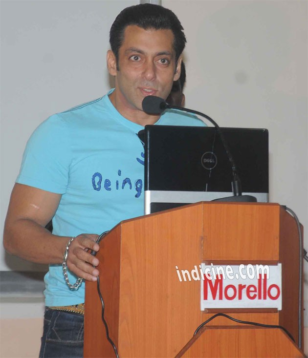 Salman Khan addresses media