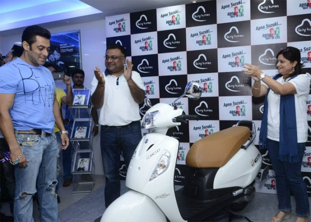 Salman Khan at Being Human and Suzuki event