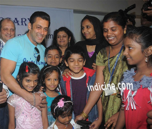 Salman Khan with special kids at Holy Family Hospital