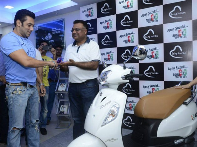 Suzuki Motorcycle ties up with Salman Khan's Being Human