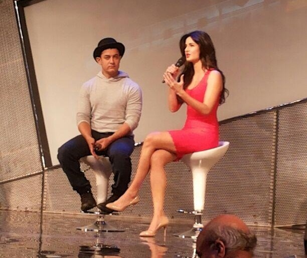 Aamir Khan and Katrina Kaif at Dhoom 3 Merchandise launch