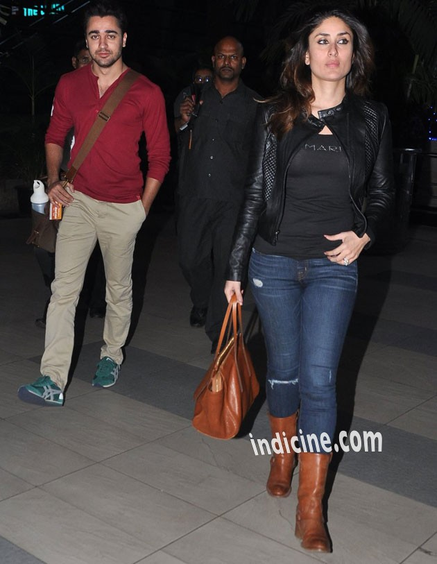 Imran Khan, Kareena Kapoor return from Delhi