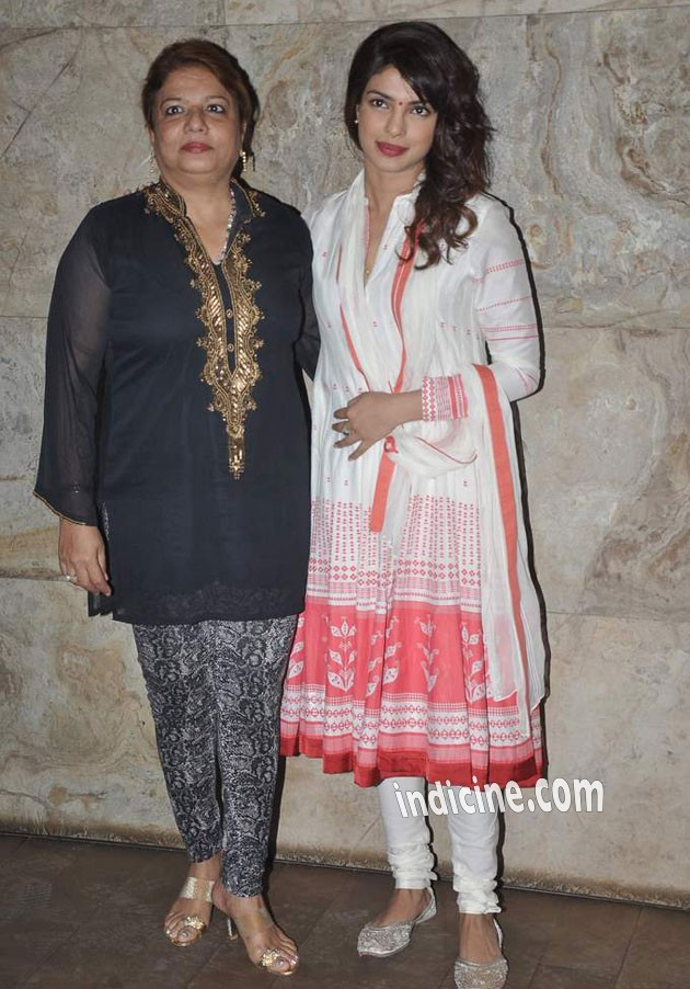 Madhu Chopra with daughter Priyanka Chopra