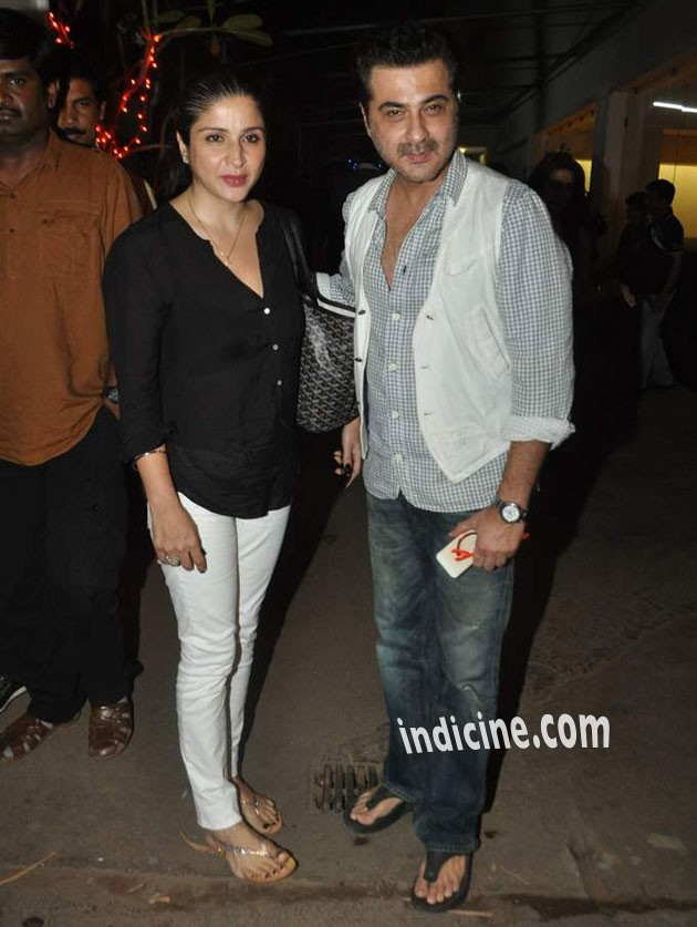Maheep Kapoor with husband Sanjay Kapoor