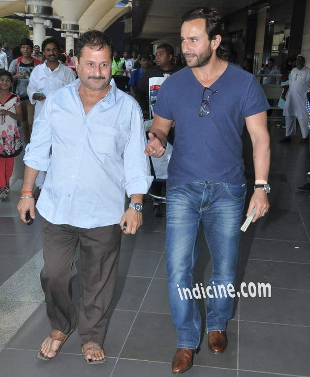 Saif Ali Khan at the Mumbai airport