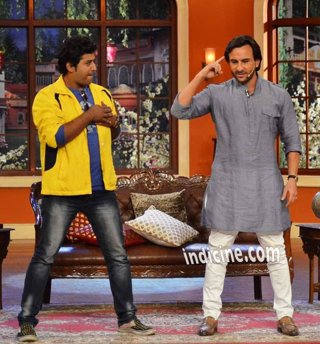 Saif Ali Khan promotes Bullett Raja on Comedy Nights with Kapil