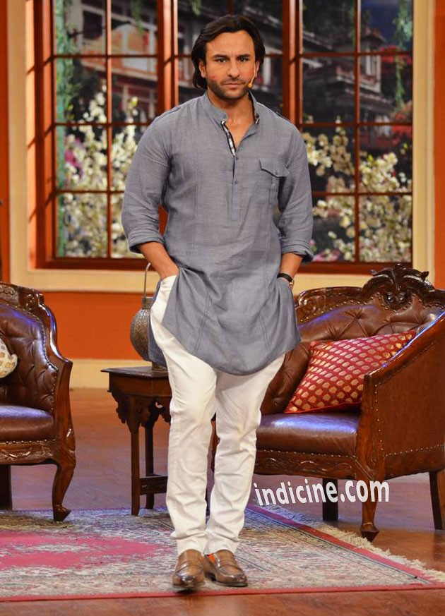 Saif promotes Bullett Raja on Comedy Nights with Kapil