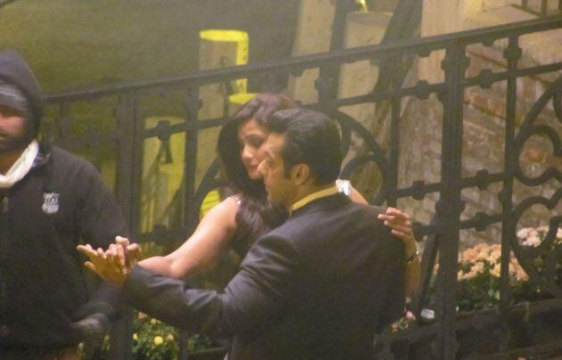 Salman Khan and Daisy Shah on the sets of Jai Ho
