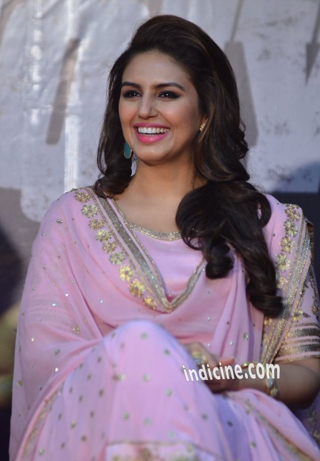 Huma Qureshi smiles at the music launch
