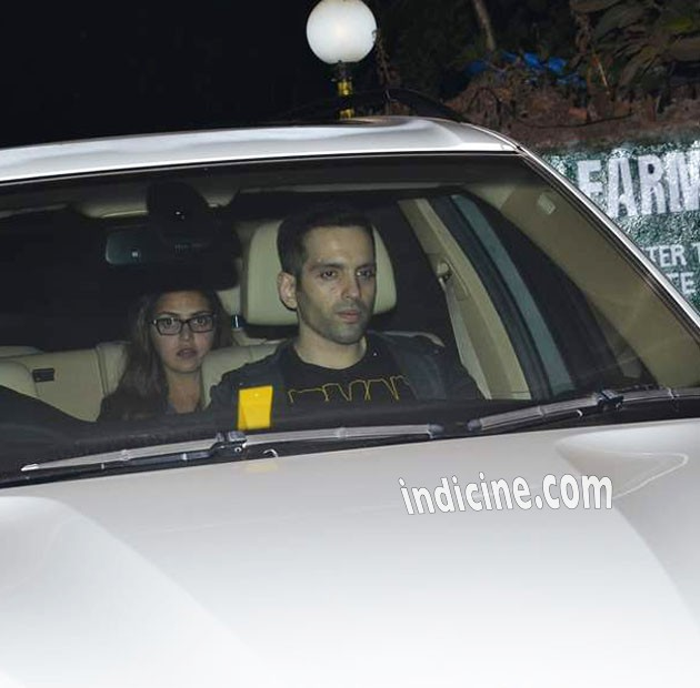Luv Sinha, Esha Deol at Salman Khan's birthday bash