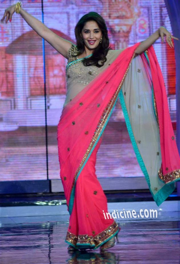 Madhuri Dixit dancing on the sets of Bigg Boss