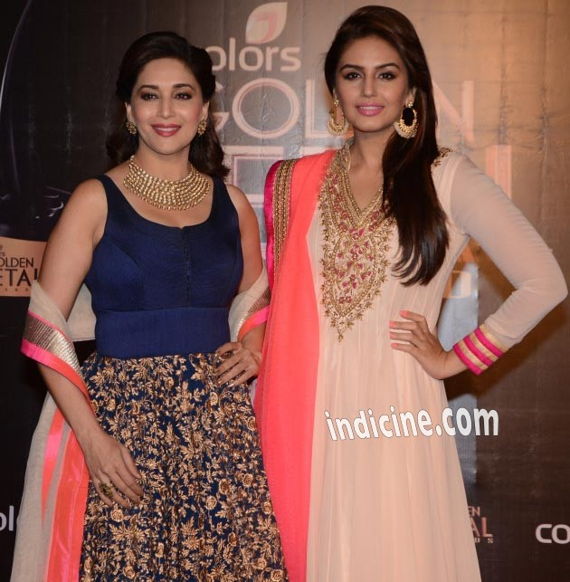 Madhuri Dixit with Huma Qureshi