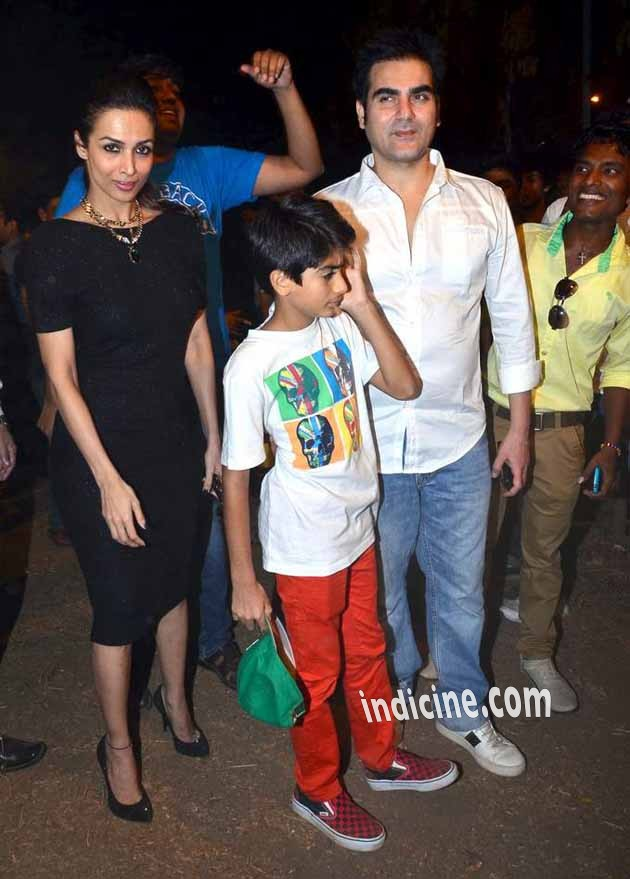 Malaika Arora Khan, Arbaaz Khan with son Arhaan Khan