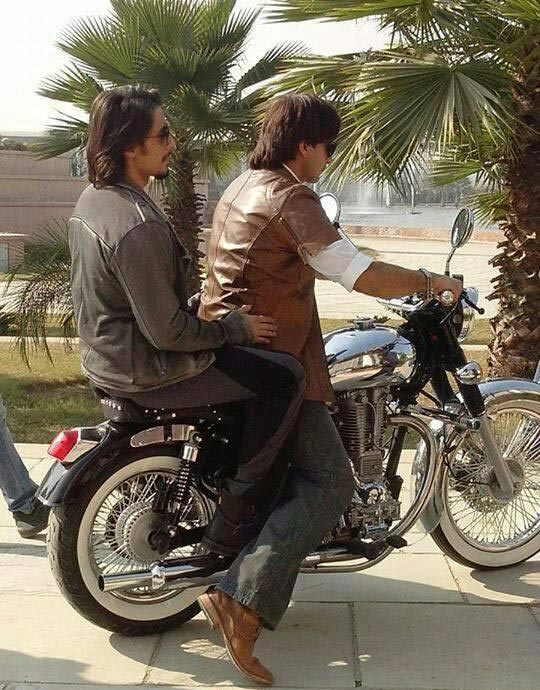 Ranveer Singh and Ali Zafar on the sets of Kill Dil