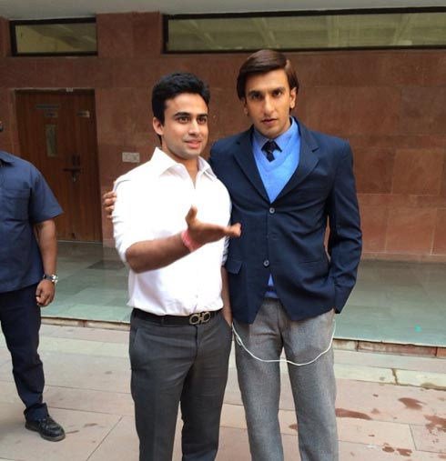 Ranveer Singh on the sets of Kill Dill