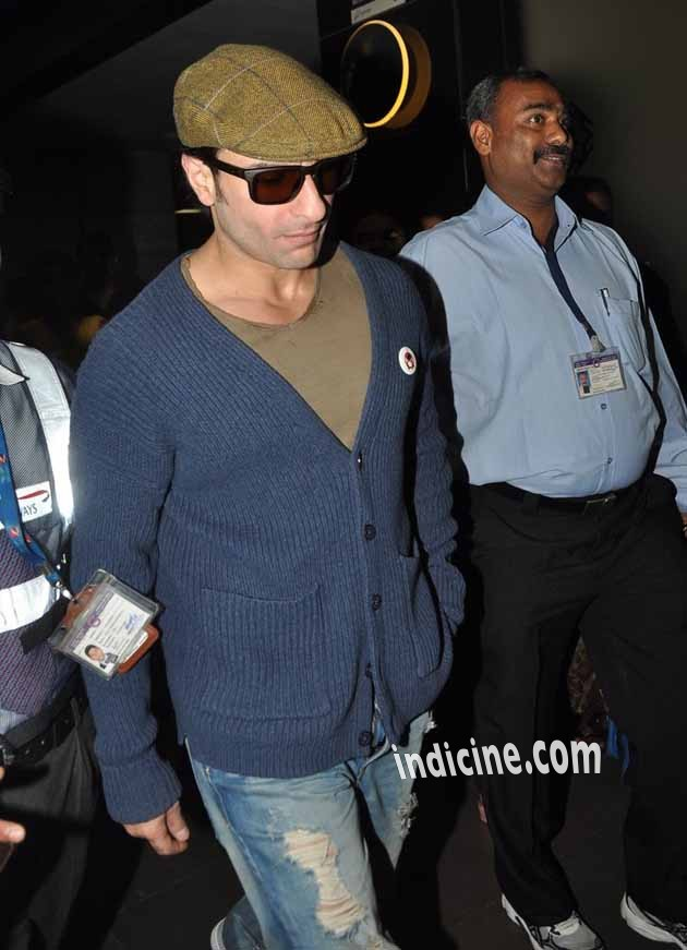 Saif Ali Khan at the airport