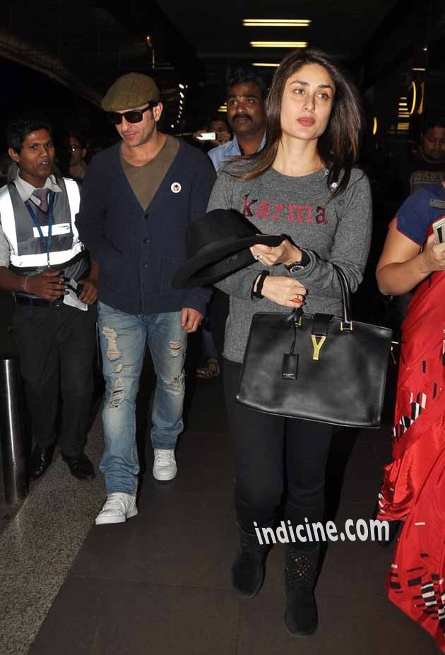 Saif, Kareena leave for New Year celebration