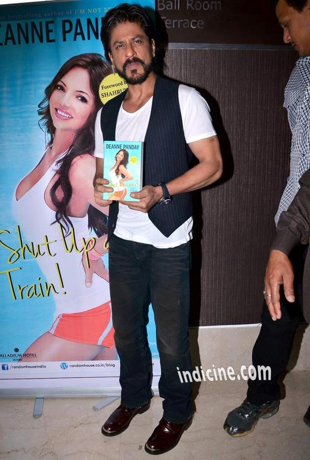 Shahrukh Khan unveils Deanne Pandey's fitness book Shut Up and Train