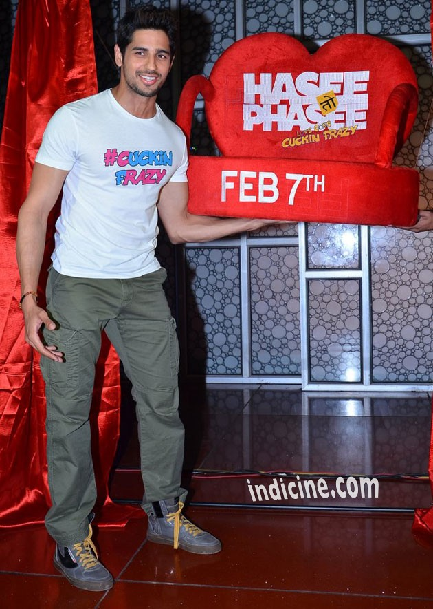 Sidharth Malhotra - Hasee Toh Phasee promotion