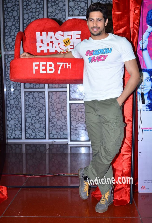 Sidharth Malhotra at Hasee Toh Phasee promotion
