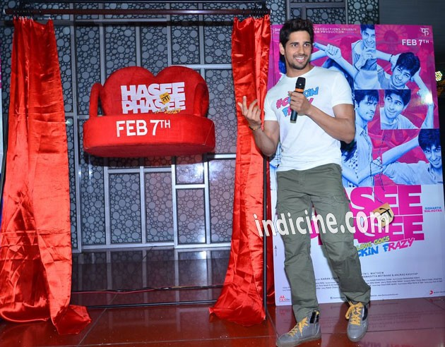 Sidharth promotes Hasee Toh Phasee