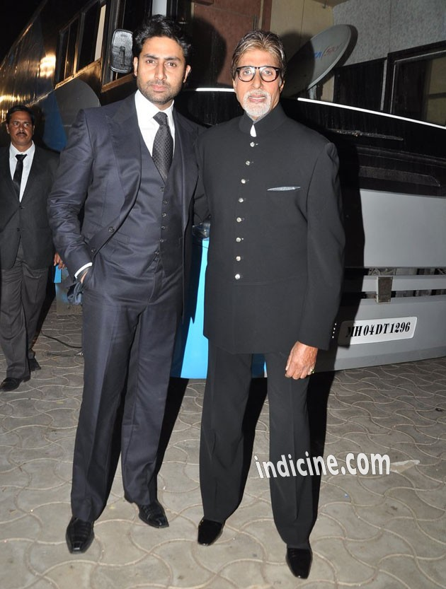 Abhishek Bachchan with father Amitabh Bachchan